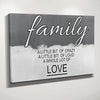 Image of Family A little bit of crazy, A little bit of loud, a whole lot of love wall art