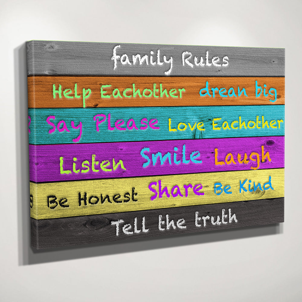 Art Wall Decals Wall Stickers Vinyl Decal Quote Family Rules Kitchen Family Wall Decals 60 95cm Free Shipping Family Rules Decals Quotesfamily Wall Decal Aliexpress