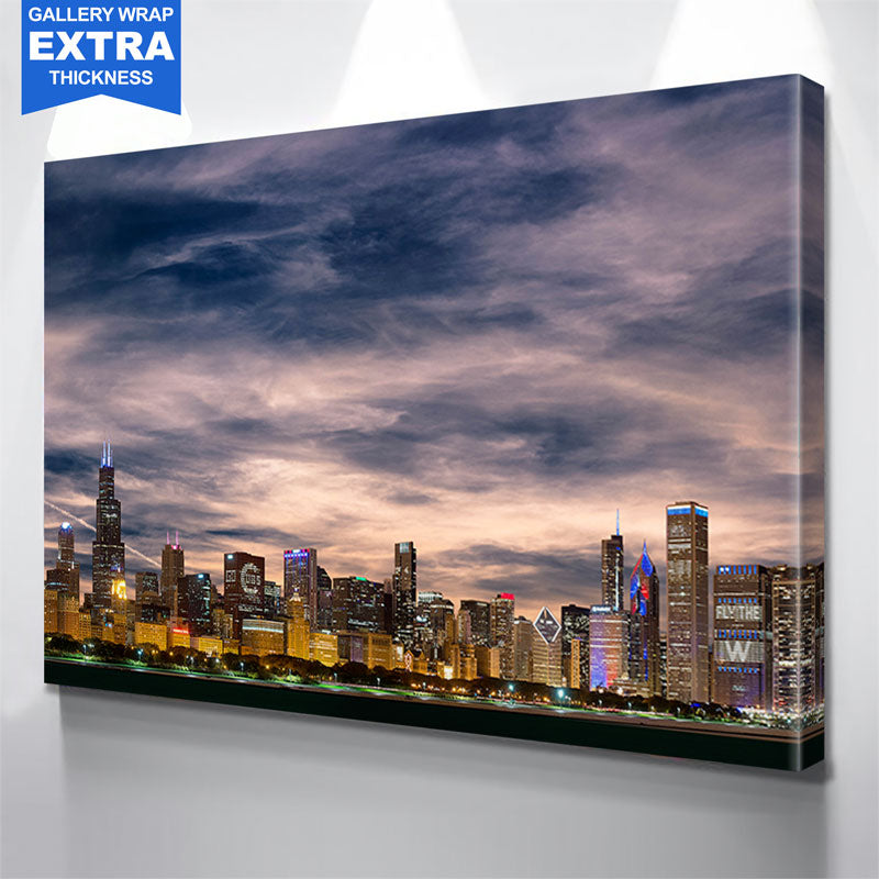 Chicago W Skyline Wall Art