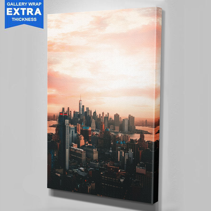 From Above New York City Skyline Canvas