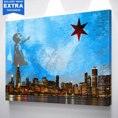 Girl With The Star Chicago Canvas