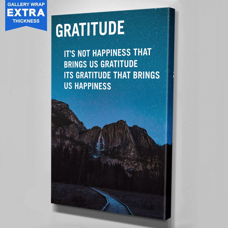Gratitude Blue Night Canvas