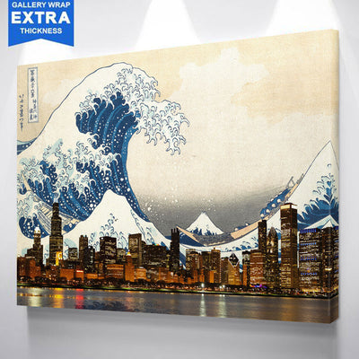 Great Wave of Chicago Canvas