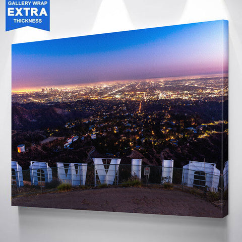 Hollywood Sign Wood Wall Art Canvas