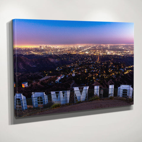 Hollywood Sign Wall Art Canvas Gallery Wrap