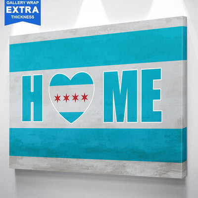 Home Is Where Heart Is Chicago Canvas