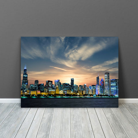 Incredible Chicago Glow Canvas