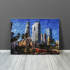 Image of Downtown Los Angeles Blue Painting Canvas