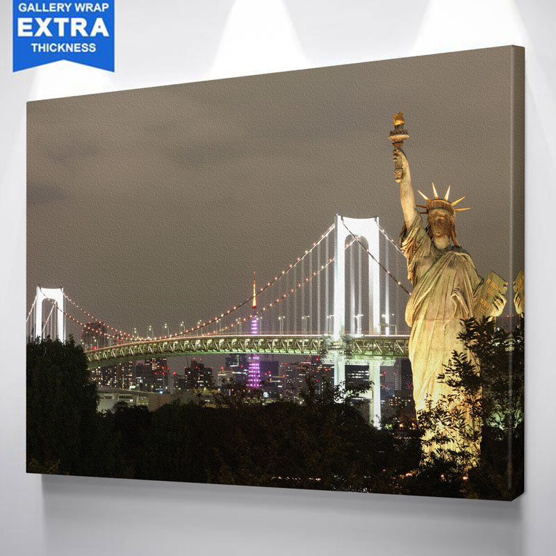 Statue Of Liberty New York Skyline Canvas