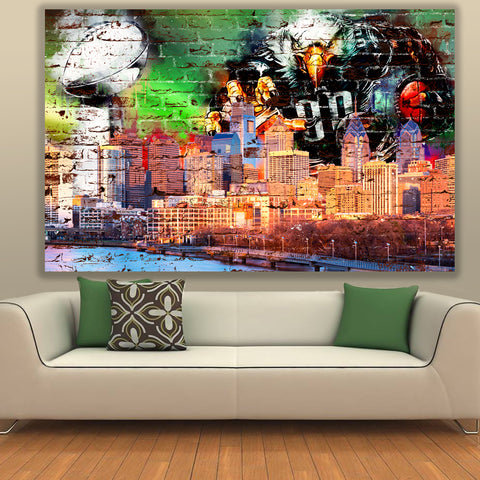Brick Philadelphia Championship Skyline Canvas