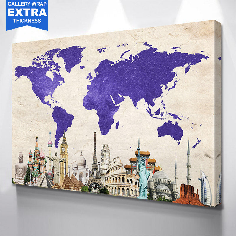 World maps zapwalls purple amazing world map landmark gumiabroncs Choice Image