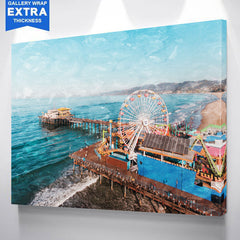 Santa Monica Pier Canvas