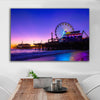 Image of Santa Monica Pier Dusk Canvas Wall Art