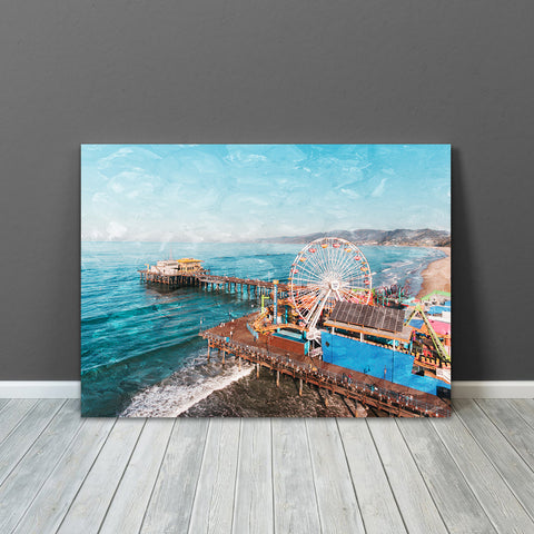 Santa Monica Pier Wall Art