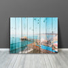 Wood Santa Monica Pier Canvas Wall Art