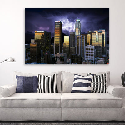 Stormy Los Angeles Skyline Canvas