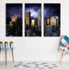 Image of Stormy Los Angeles Skyline Canvas