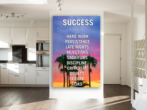 Success LA Palm Trees Canvas