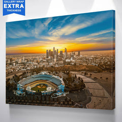 Sunny Los Angeles Dodgers Skyline Wall Art