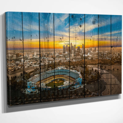 Sunny Los Angeles Skyline Canvas Art