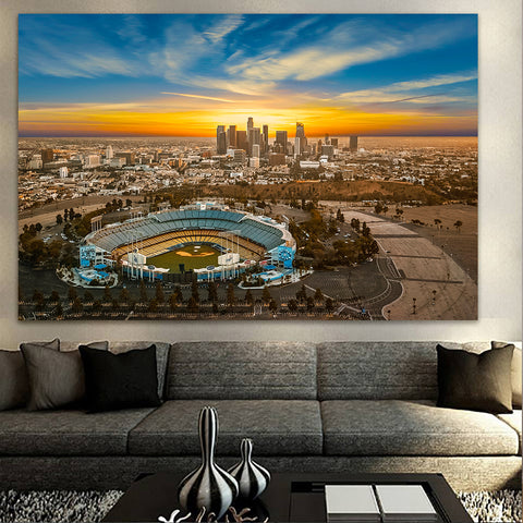 Sunny Los Angeles Skyline Wall Art