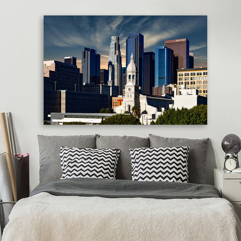 Sunny Los Angeles Downtown Canvas