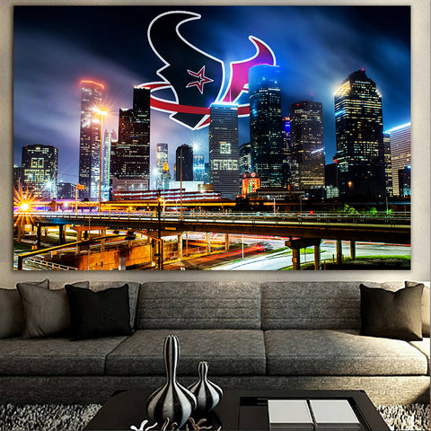 Amazing Houston History Skyline Canvas