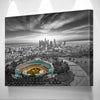 Image of Black & White Los Angeles Dodger Chavez Ravine Wall Art Canvas