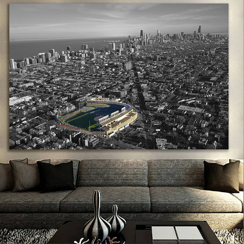 Black & White Friendly Confines Canvas