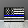 Image of Blue Line American Police Flag Wall Art