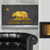 Image of Gold & Silver Cali Flag Canvas