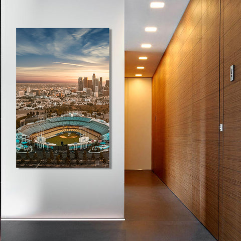 Chavez Ravine Vertical Canvas