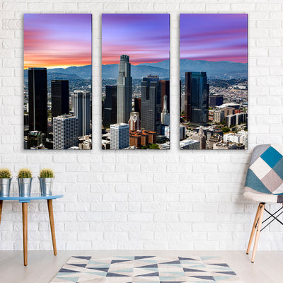Colorful Sky Los Angeles Downtown Canvas