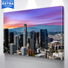 Image of Colorful Sky Los Angeles Downtown Canvas