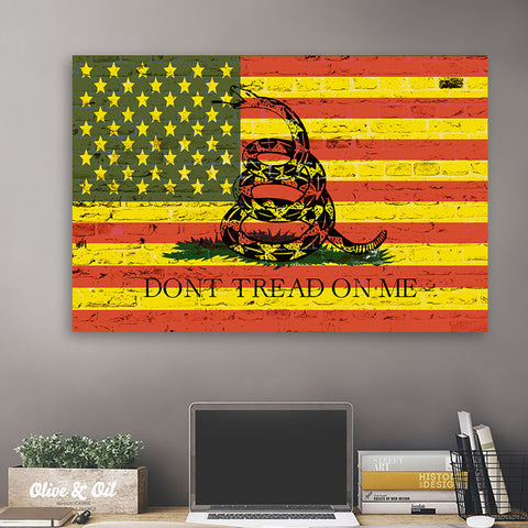 American Flag Red & Yellow Don't Tread On Me