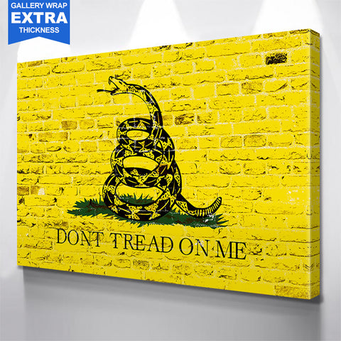Yellow Don't Tread On Me American Flag Wall Art