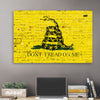Image of Yellow Don't Tread On Me American Flag Wall Art