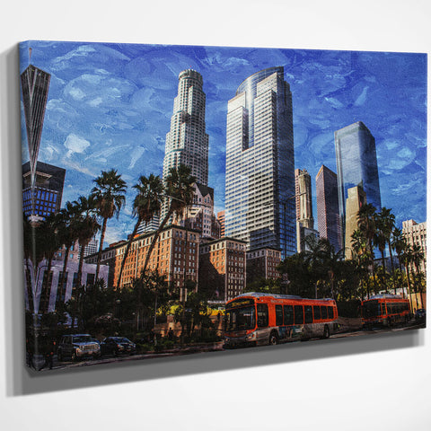 Downtown Los Angeles Skyline Canvas