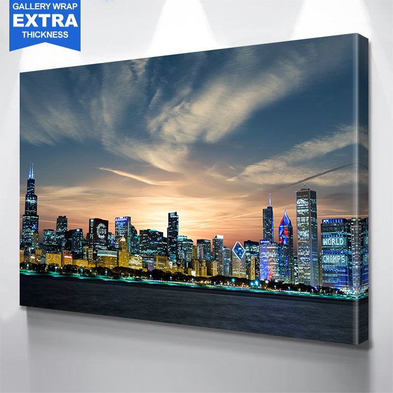 Chicago Skyline Cubs Wall Art