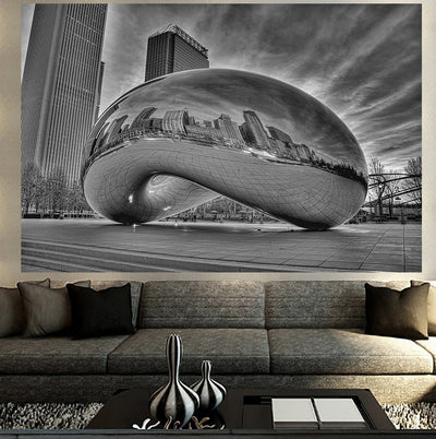 jlewis Decals BEAUTIFUL BLACK & WHITE CHICAGO BEAN