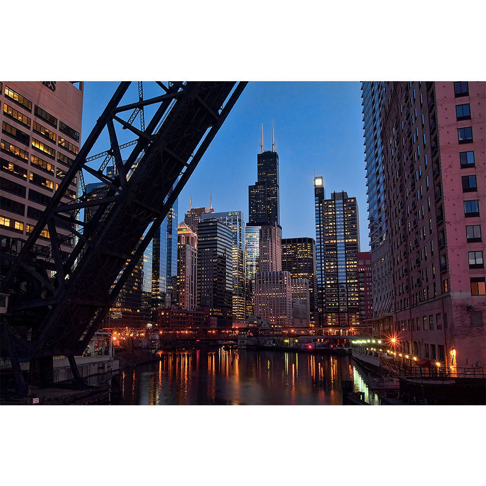 Bridge Chicago River Sears Tower Wall Graphic Zapwalls