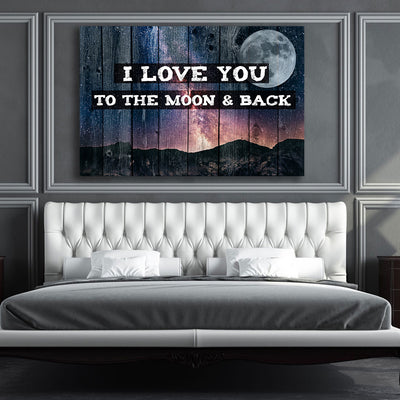 I Love you to the moon & back Wall Canvas