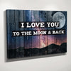 I Love you to the moon & back Wall Decor