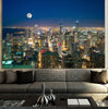 Image of Aerial Moon Chicago Canvas