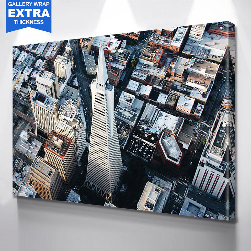Aerial Daytime San Francisco Skyline Canvas