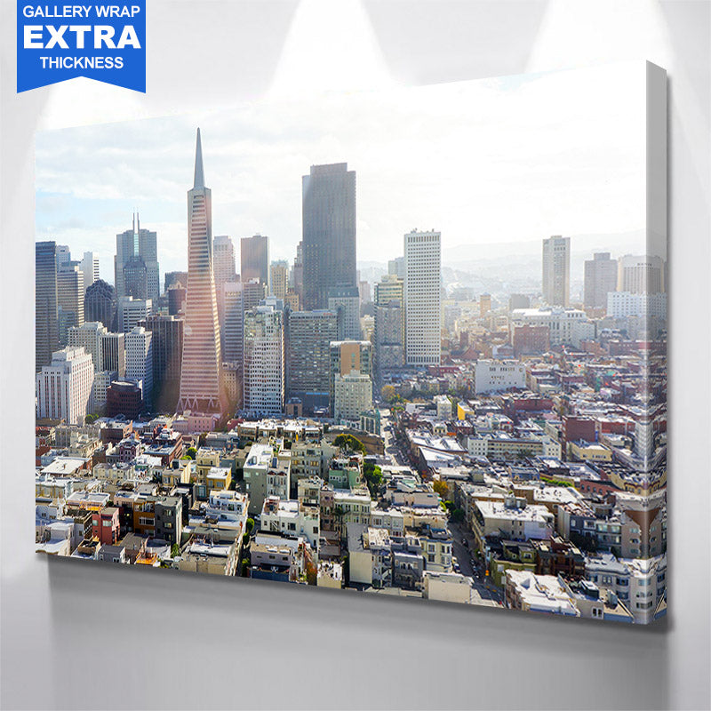Daytime San Francisco Skyline Canvas