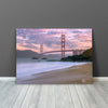 Image of Beautiful Beach Golden Gate Bridge San Francisco Canvas