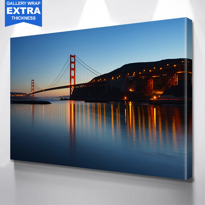 Reflection Golden Gate Bridge San Francisco Canvas