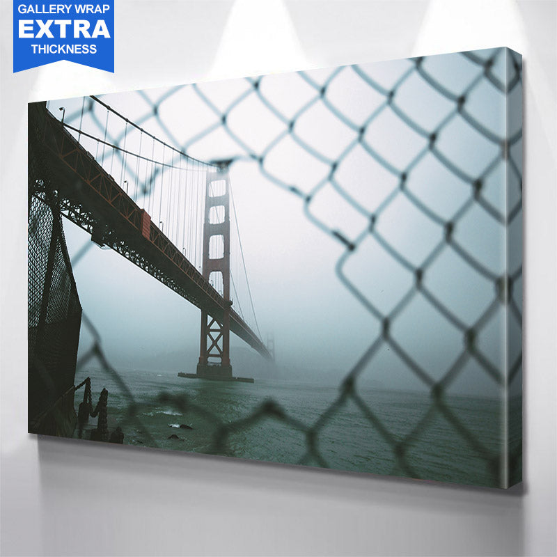 Through The Fence Golden Gate Bridge San Francisco Canvas