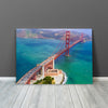 Image of Aerial Sunny Daytime San Francisco Golden Gate Bridge Canvas